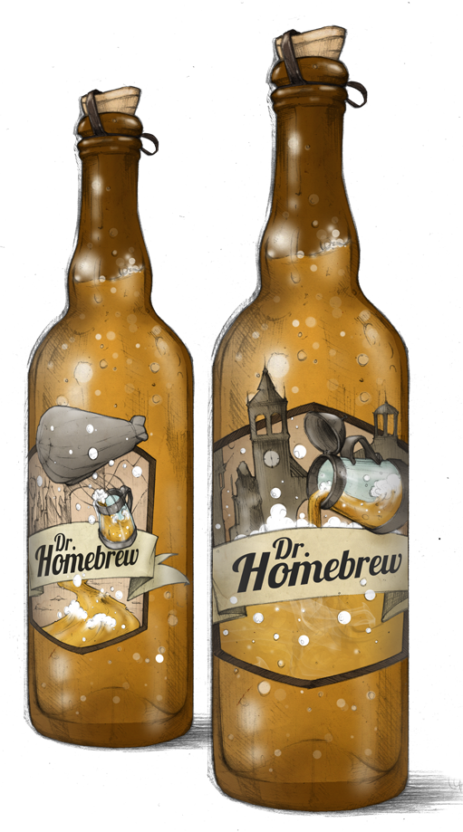 Dr. Homebrew beer bottles