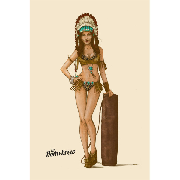 Native Indian Beer Girl by Dr. Homebrew