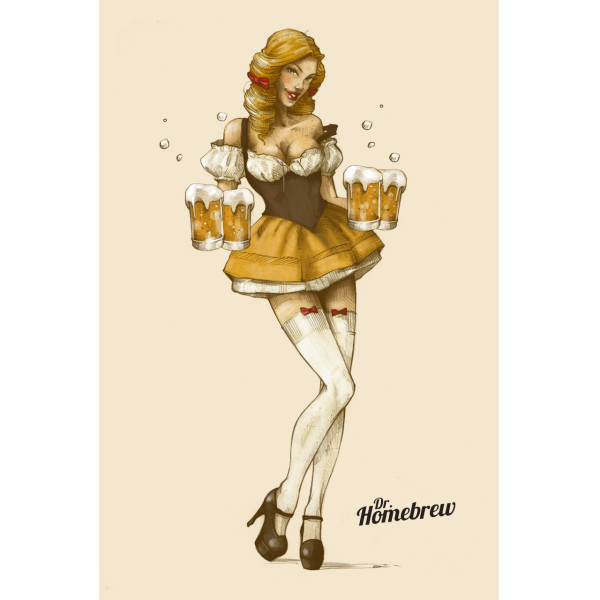 Octoberfest beer maiden poster
